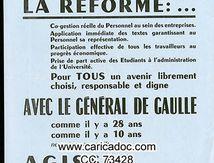 « La Réforme, oui La chienlit, non Comité de Défense de la République CDR », tract, 1968.