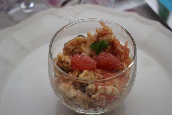 Cocktail de fruits de mer au pamplemousse