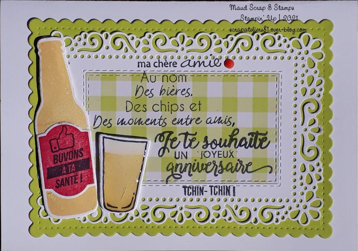 Carte d'anniversaire Tchin-tchin