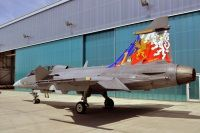 """Special sheme commemorating 10 years of """"Gripen"""" in CzAF"""