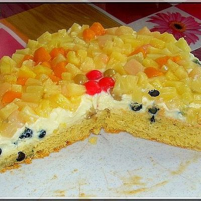 Obst - Puddingtorte