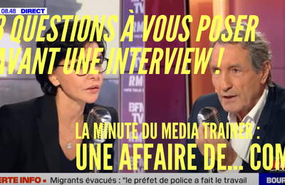 Donner une interview : une affaire de... COM