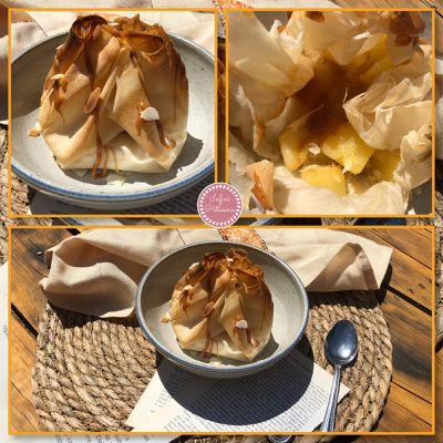 Aumônières ananas caramélisées 🍍