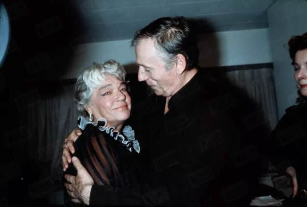 Simone Signoret et Yves Montand, à New York en mai 1982. Jean-Claude Deutsch / Paris Match