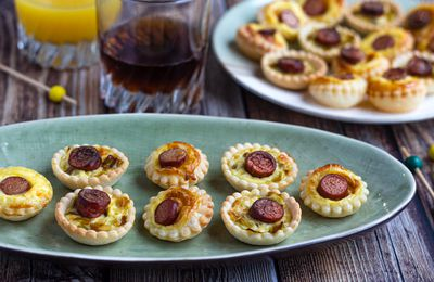Mini tartelettes aux knackis (2 versions)