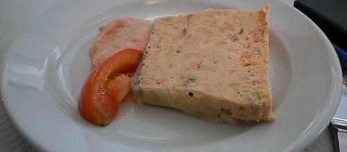 Pain de saumon aux crevettes
