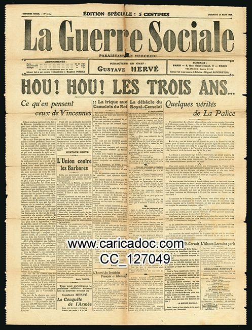 La Guerre sociale Gustave Hervé