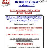 Hôpital de Vierzon : suppression massive de postes ou fermeture de services ? - Vierzonitude