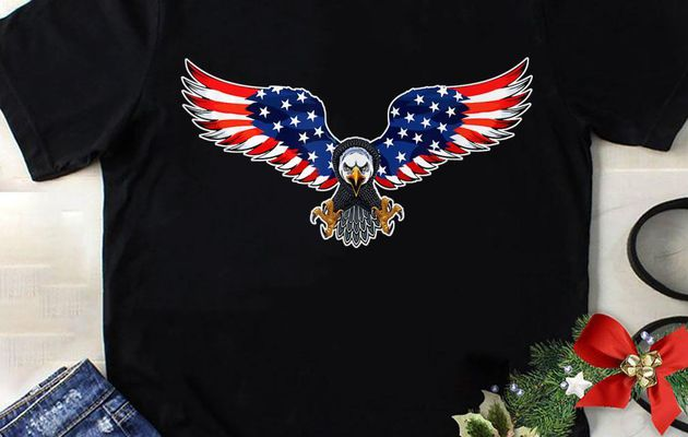 Hot The Power Of Eagle American Usa Flag 4Th Of July shirt