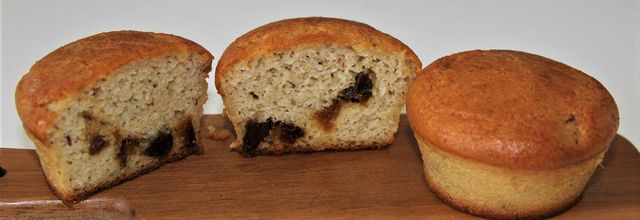 Muffins IG bas amandes abricots secs et même cétogène