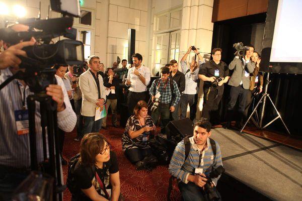 Les medias sont présents en force à Mendoza pour assurer la couverture du concours.  © Jean Bernard