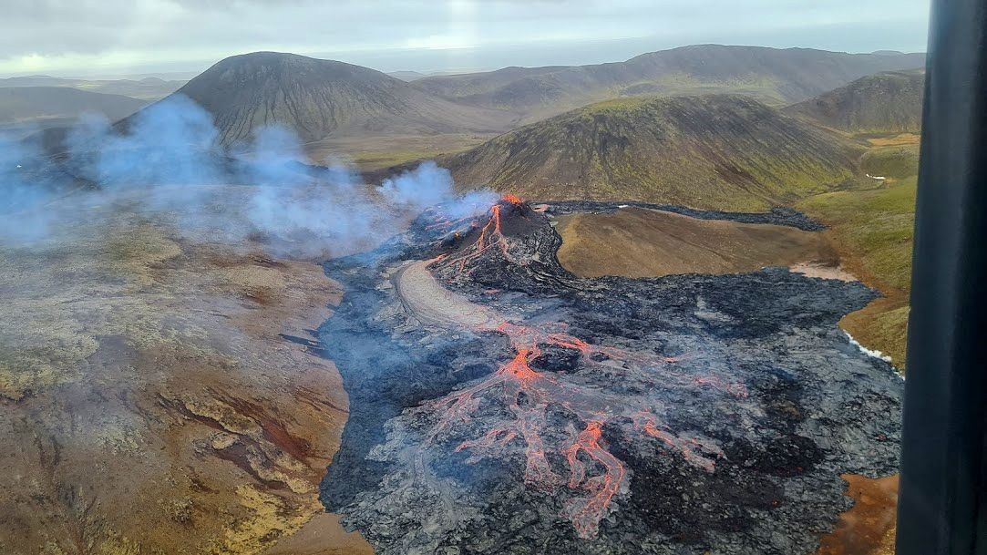 Geldingadalsgos - overview of the eruptive site on March 21, 2021 / 2:47 p.m. - Doc. IMO