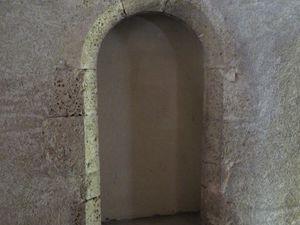 Des traces de l'ancienne abbaye, au premier étage des bâtiments privés...
