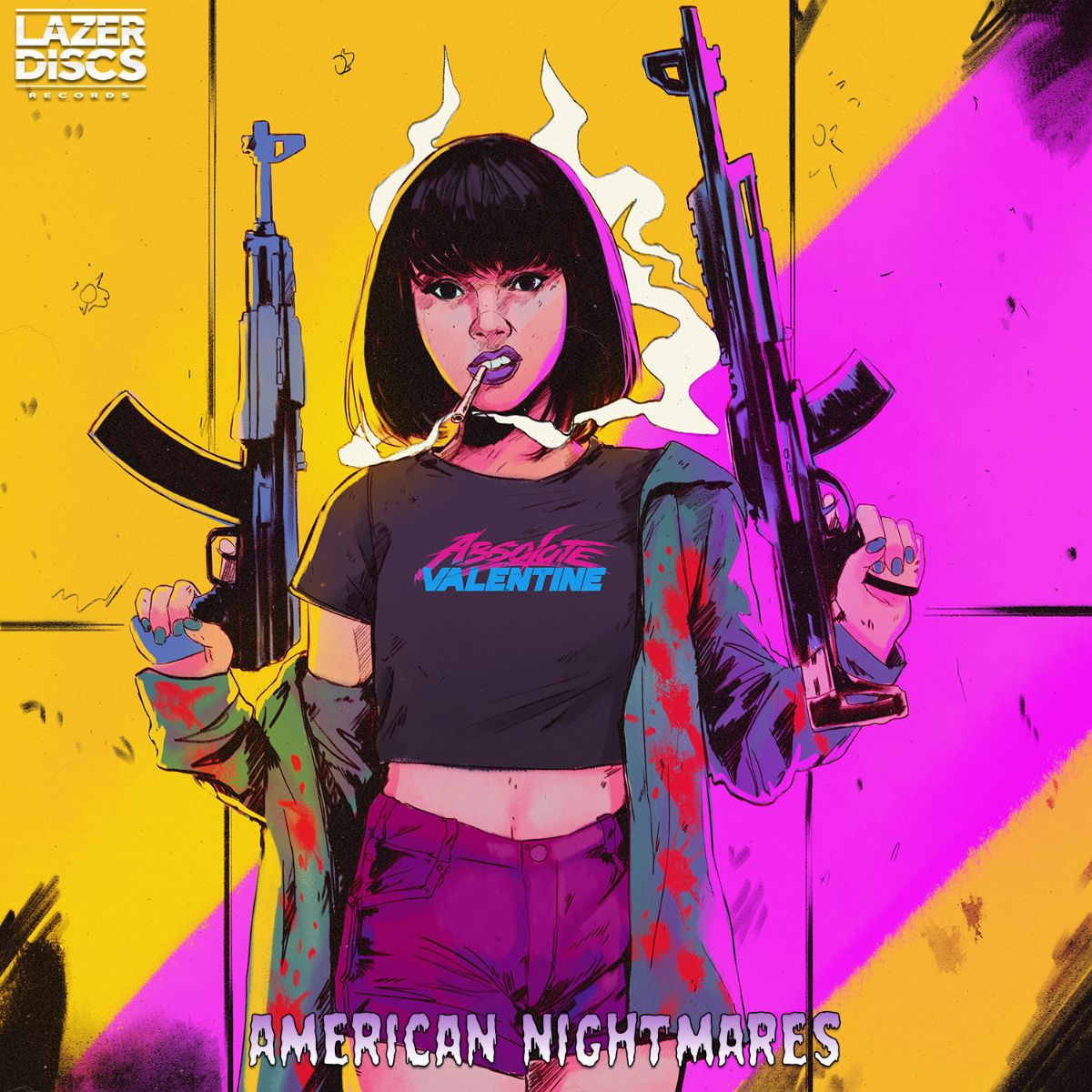 FRENCH SYNTHWAVE CYBERPUNK PRODUCER ABSOLUTE VALENTINE IS FINALLY BACK WITH A NEW ALBUM NAMED 'AMERICAN NIGHTMARES', ON THE 22ND OF JANUARY 2021.