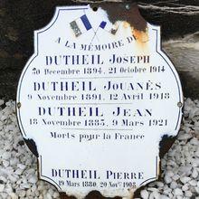Des Gourdonnais dans la Grande Guerre - Les frères Dutheil