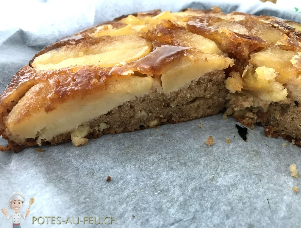 Gâteau renversé Pommes-Caramel (style Tatin) - Upside down cake