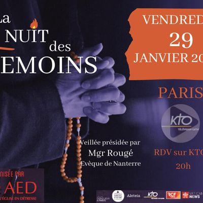 LA NUIT DES TÉMOINS VENDREDI 29 JANVIER