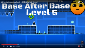 Geometry Dash attention to pass the level
