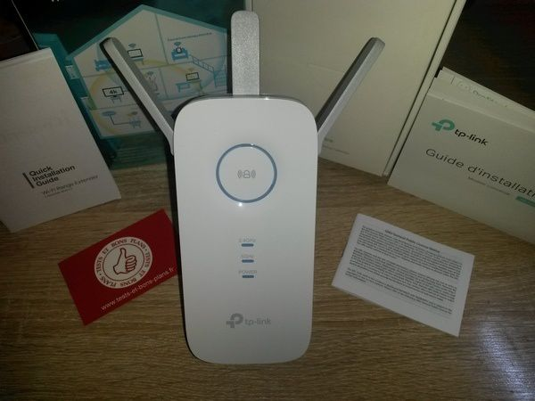 unboxing répéteur Wi-Fi AC 1.75 Gb/s TP-Link RE450 @ Tests et Bons Plans