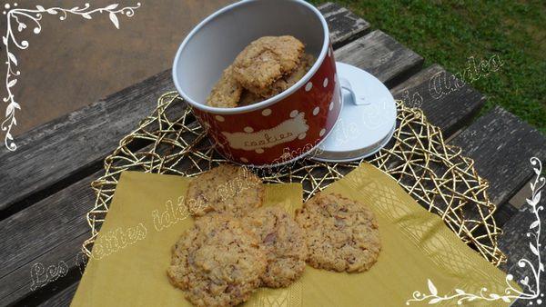 Cookies au chocolat au lait et amandes d'après la recette de Christophe Michalak