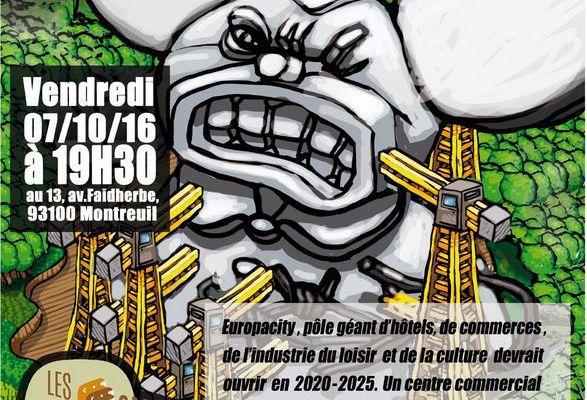 NON A EUROPACITY ! Débat chez les Castors Bios de Montreuil