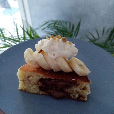 Pancakes au chocolat et à la banane de Cyril Lignac dans tous en cuisine