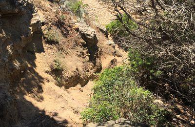 Le mur et la petite plage d'avant les Grottes : Travaux de 2021