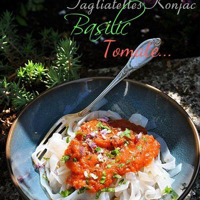 Tagliatelles de Konjac à la sauce tomates