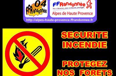 SECURITE INCENDIE - ACCES AUX MASSIFS FORESTIERS des Alpes de Haute Provence