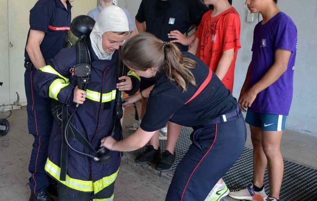 Les 4èmes chez les pompiers