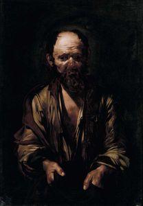 Jusepe de Ribera (1591-1652) Mendiant vers 1612 - huile sur toile 106x76cm. Rome Musée Borghese.