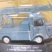 FASCICULE N°3 CITROEN TUB TYPE HY 1963 PLATEAU CABINE EDF - car-collector.net
