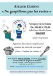 Atelier « ne gaspillons pas les restes » avec « Fantine en cuisine », le samedi 15 octobre de 10h30 à 12h30