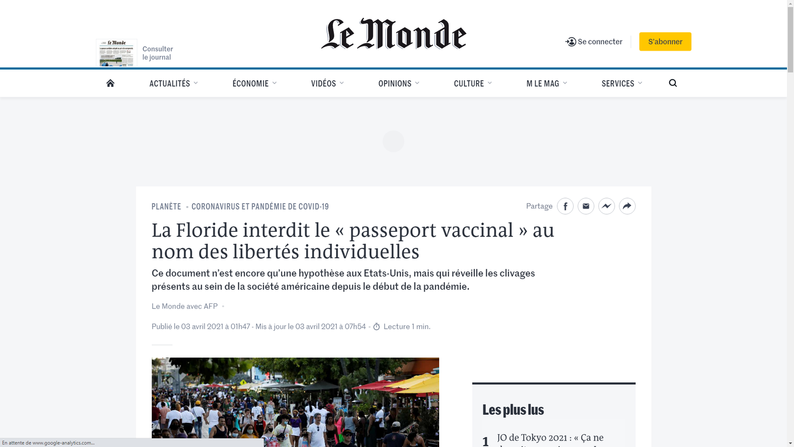 Source: https://www.lemonde.fr/planete/article/2021/04/03/la-floride-interdit-le-passeport-vaccinal-au-nom-des-libertes-individuelles_6075448_3244.html