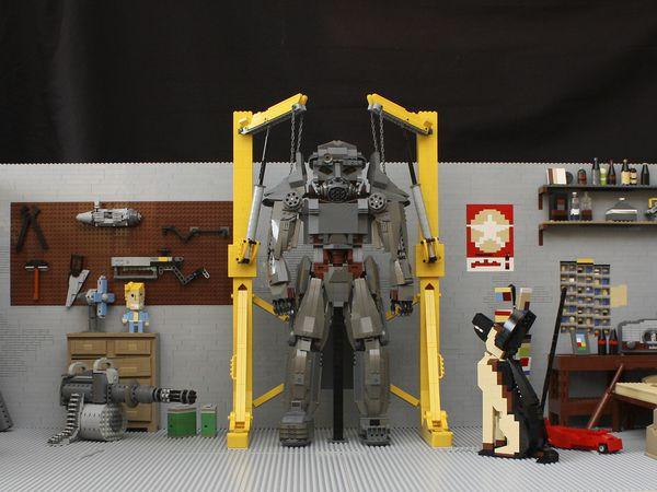Fallout 4 recréé en LEGO