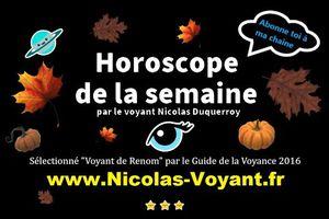 Horoscope en ligne du 16 au 22 novembre 2020 par le voyant Nicolas Duquerroy