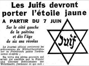 Comparer et/ou assimiler la condition juive en France et dans les pays subissant l'occupation et la dictature fasciste est une manière de faire oublier  que l'étoile jaune était obligaroire en attendant la déportortation vers les camps d'extermination!