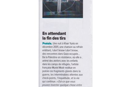 Dans Tel Quel, magazine marocain, une présentation de Where is the peace