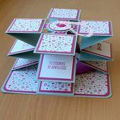 Une carte accordéon - Le scrap de Marianne38