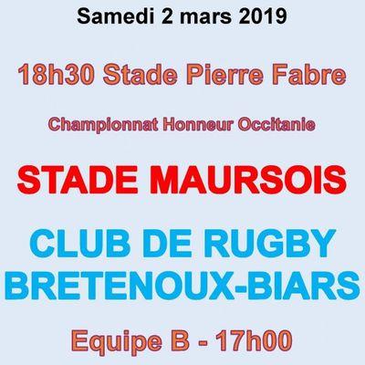Match de rugby à Maurs samedi 2