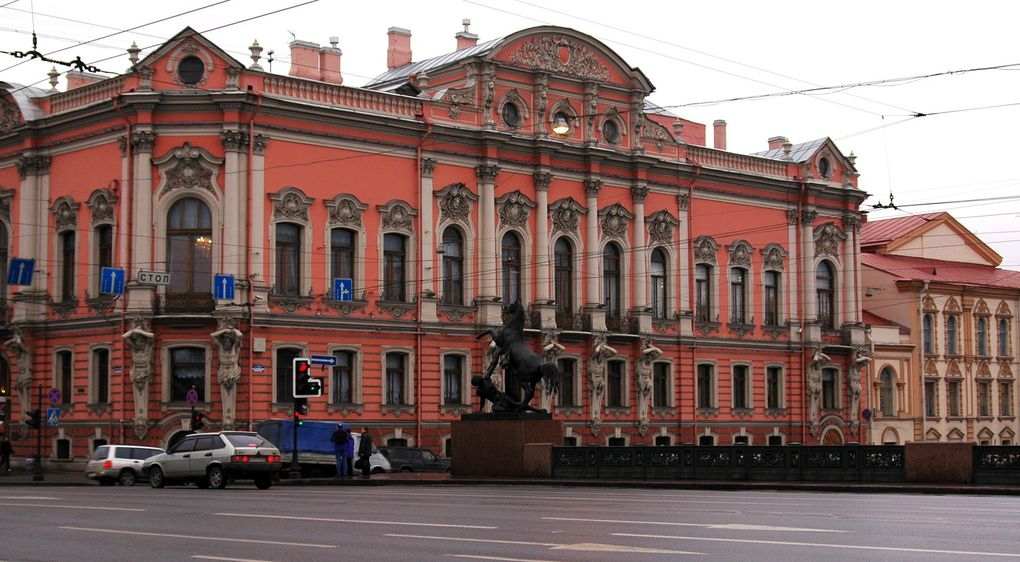 Saint-Petersbourg, Russie, sous la pluie.