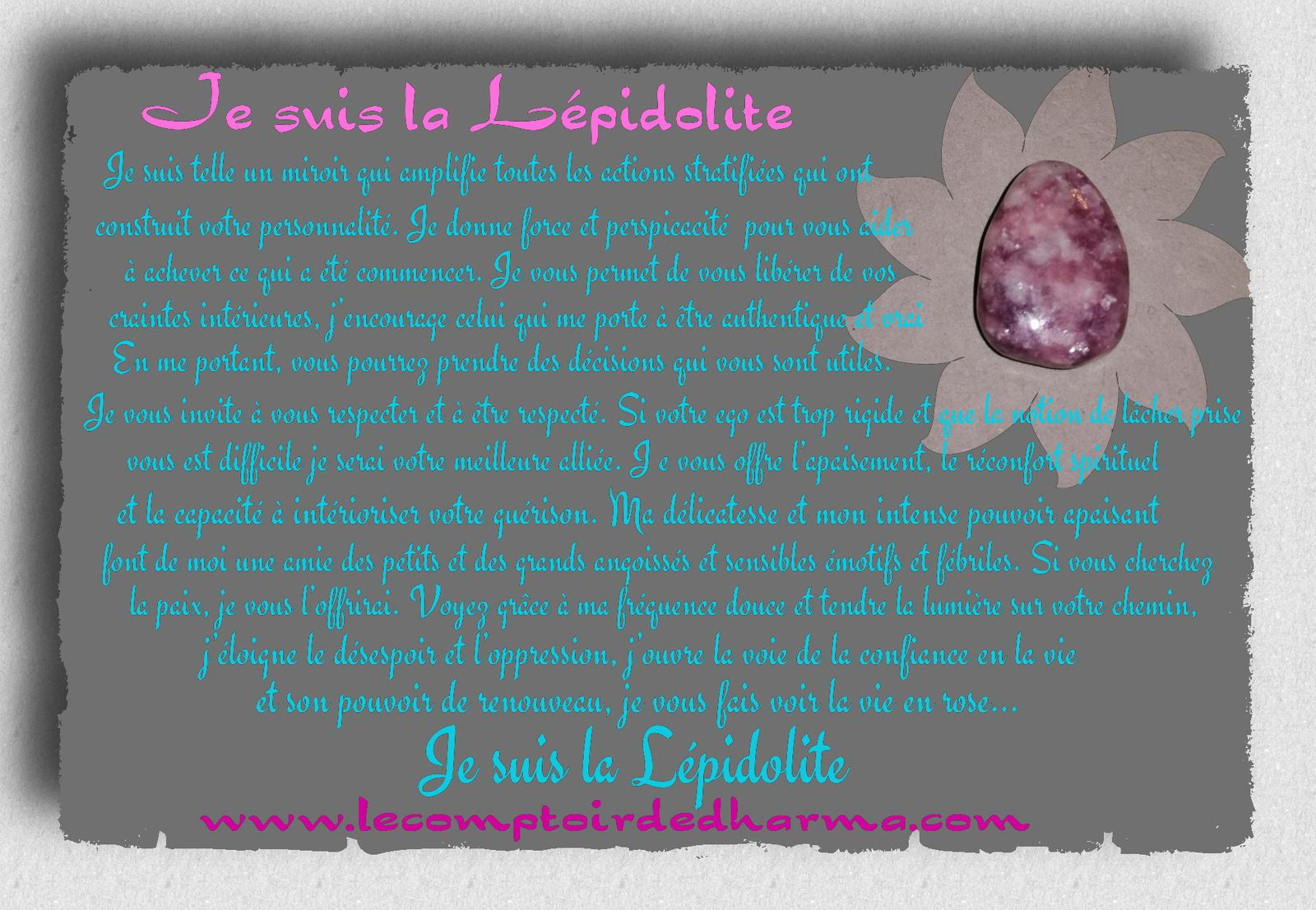 la Lépidolite