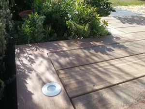 Détails de la terrasse en bois