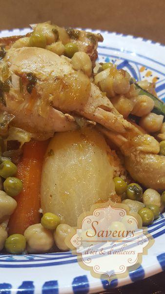 Couscous Marocain au Poulet et Légumes