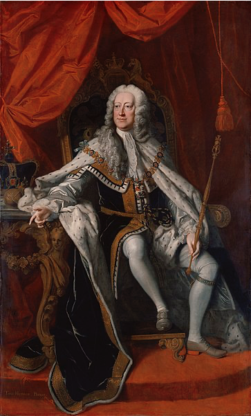 George II par Thomas Hudson, 1744.