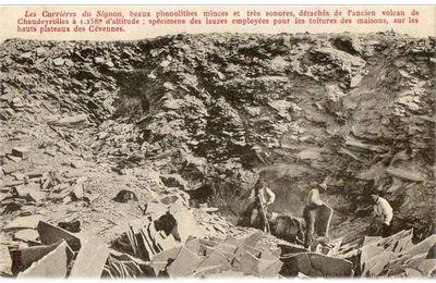 Les carrières de Lauzes au Mont Signon