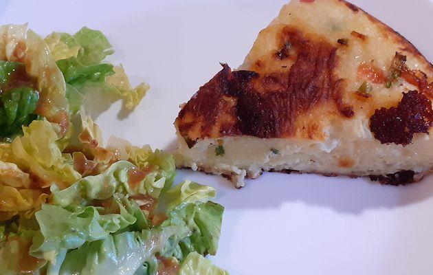Gâteau de pommes de terre à la tomate et mozzarella