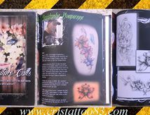 tattoo book with flowers