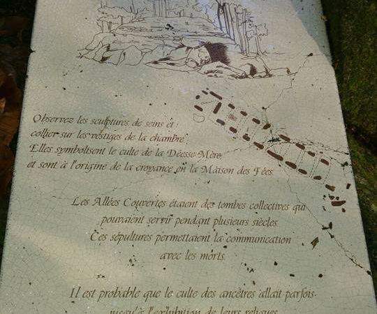 Les allées de mégalites, le miroirs aux fées en forêt du mesnil à côté de Tréssé