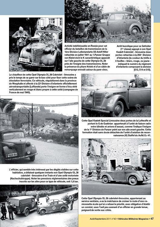 Extrait Véhicules Militaires Magazine n°40 (aoû/sep 2011)
